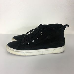 1. State Black Perforated Lace Up High Top Sneaker